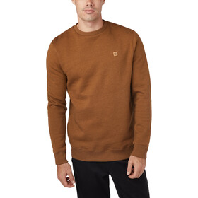 tentree Standard Longsleeve Crew Shirt Heren, rubber brown heather